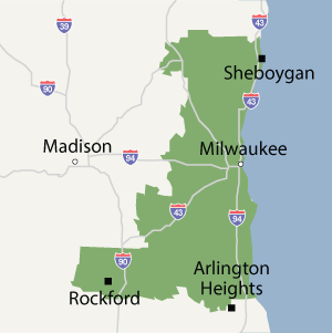 Our Wisconsin Service Area