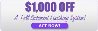 Act fast! On Kenosha basement finishing