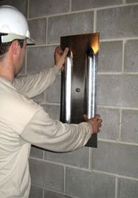 Foundation wall anchor in Greater Calgary