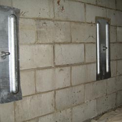 Wall Anchor installation in IN and MI for bowing foundation walls