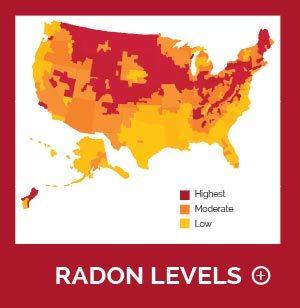 Radon levels across the United States