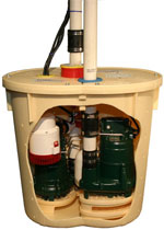 sump pump tank for the TripleSafe