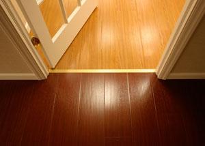 Waterproof synthetic wood basement flooring