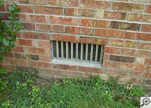An open basement vent.