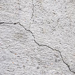 cracks in a concrete foundation wall