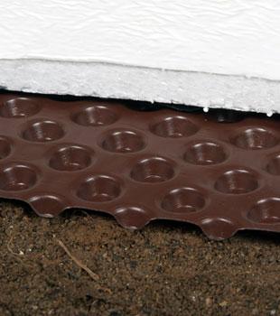 Crawl space drain matting and insulation