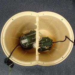 A basement sump pump liner; one of our sump pump parts in our complete system