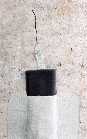 Our warrantied basement wall crack repair system