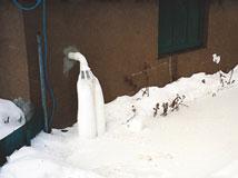 frozen sump pump discharge pipe