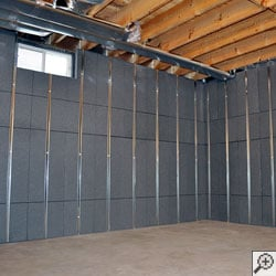 A basement insulated by our Basement To Beautiful™ Panels.