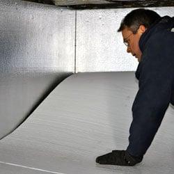 Crawl space floor insulation