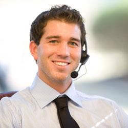 A home insurance customer service worker.