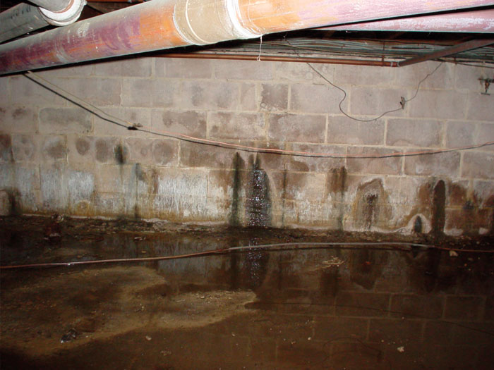 Repairing Leaking Basement Walls What, Can Water In Basement Damage Foundation