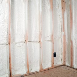 open cell spray foam insulation installed in a crawl space environment