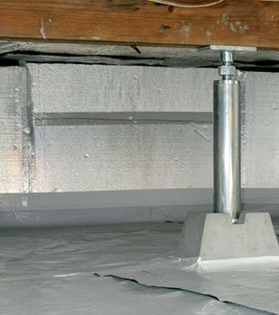 An insulated crawl space