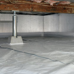 A sealed and insulated crawl space