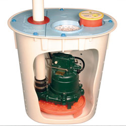A SmartSump™ Crawl Space Sump Pump.