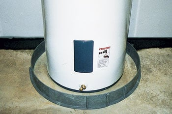 Water Heater with FloodRing