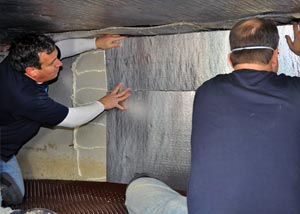 Foam insulation for a crawl space insulation job