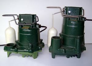 Cast-iron Zoeller sump pump systems