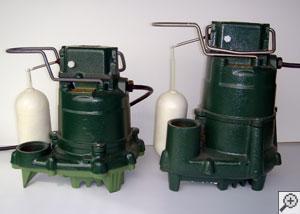 A cast-iron Zoeller sump pump system.