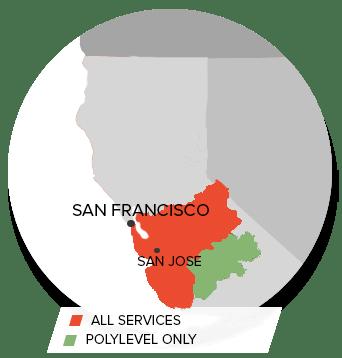 Service Area of Foundation Repair of CA