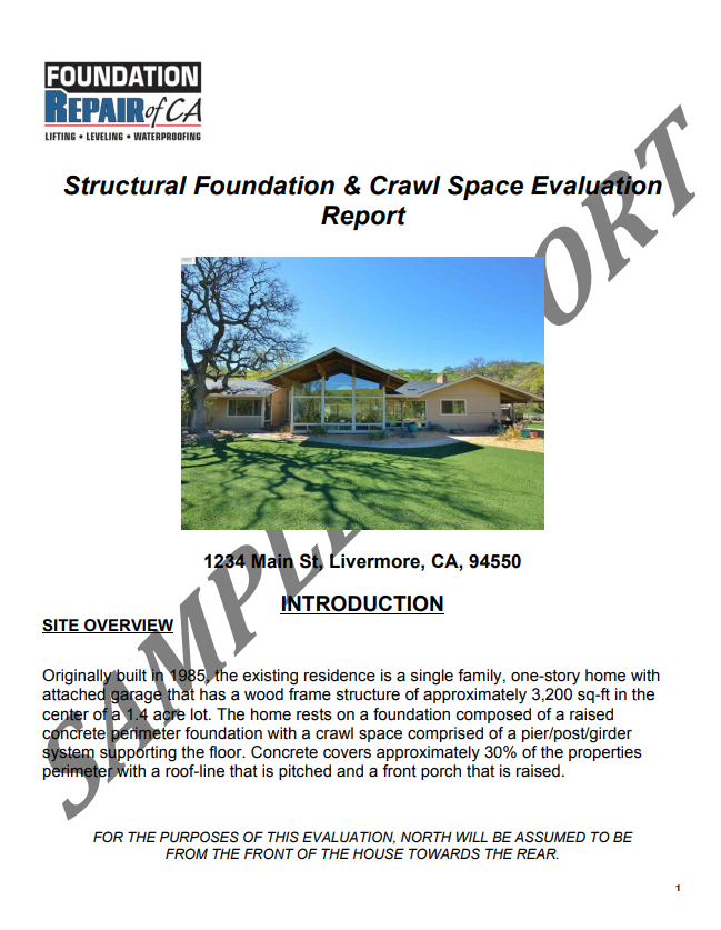Foundation & crawl space real estate evaluations in the San Francisco Bay Area