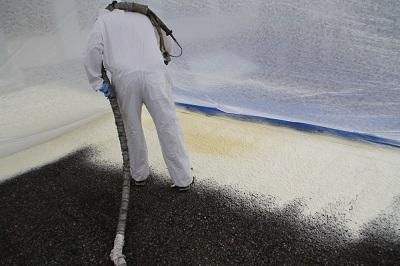 spray foam installation