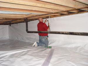 CleanSpace crawl space waterproofing in Harrogate
