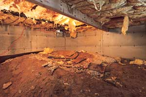 A clean, empty crawl space in  in La Grange.