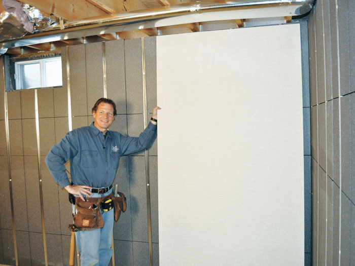 Basement wall panels ready to be installed in Hillsboro, OR
