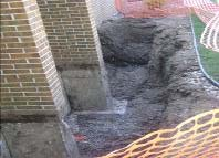 Foundation excavated