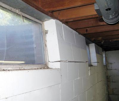 Bowed wall in Toronto basement