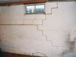 Basement Foundation Wall Bending Inwards