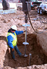 Helix Anchor Contractor During a Montreal installation