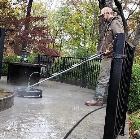 Sealing a concrete sidewalk