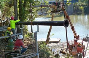 Installing pipeline helical piles in Edmond