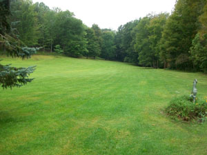 Land area for a 6-ton Horizontal Loop Water-Based Geothermal System in Ithaca, NY
