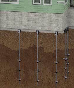 schéma d'un pilier hélicoïdale pour les fondations à Montréal