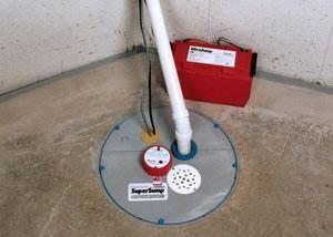 Un système de pompe de puisard avec un système de batterie de secours installé dans Saint-Constant