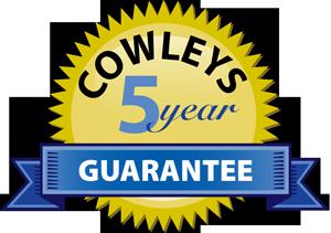 Cowleys 5 year guarantee