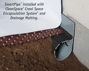 Crawl space drainage, encapsulation & drainage matting installation in Concord