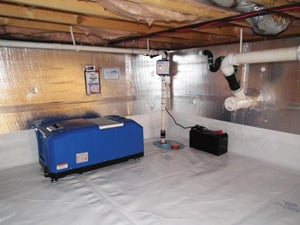 Crawl space drainage & dehumidification in Amarillo
