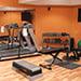 Remodeled basement workout room
