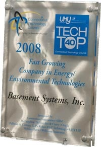 Plaque Awarded at Tech Top 40 Ceremony