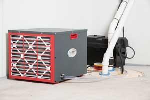 SaniDry Sedona dehumidifier and TripleSafe sump pump