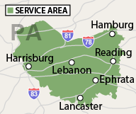 Our Pennsylvania Service Area