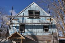Exterior foam insulation