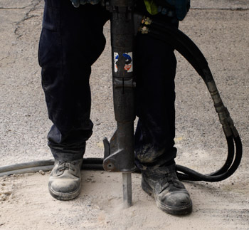 Replacing sunken concrete