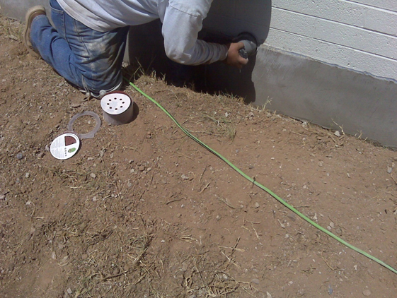 Completely Repaired Foundation Concrete on the Tucson, AZ Home